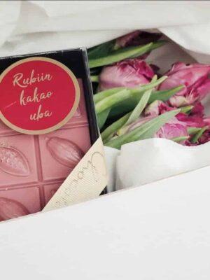"""Šokolaad roosa """"Rubiin"""" Chocolala"""